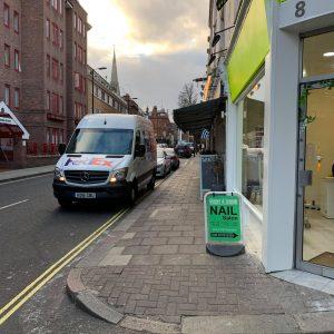 ginger and lemon nail shop front