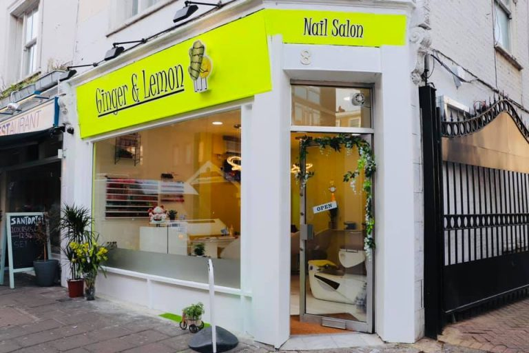 ginger and lemon nail salon shop front