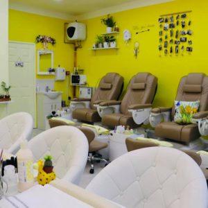 ginger and nail salon interior