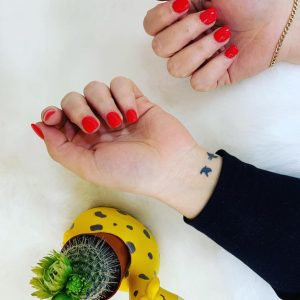 Fullset of Nails with Red Colour Fifth Avenue 060319 1