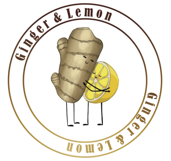 ginger and lemon nail salon v2 logo